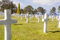 Military cemetery omaha beach normandy france graves on Royalty Free Stock Photography