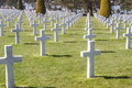 Military cemetery omaha beach normandy france graves on Royalty Free Stock Images