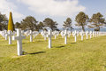 Military cemetery omaha beach normandy france graves on Stock Photo