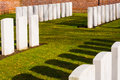 Military cemetery st world war flanders in belgium Royalty Free Stock Photo