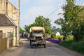 Military convoy etreham france may ww vehicles from the mvt drive in towards the d day landing beaches of normandy as part of the Royalty Free Stock Photo