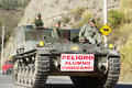 Military driving school riobamba ecuador june army tanks patrolling the streets of riobamba during an exercise in riobamba on june Royalty Free Stock Images