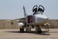 Jet fighter aircraft in flight