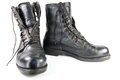 Military Flight Boots with Zipper Stock Images