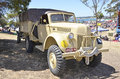 Military geelong s re enactment group had displays as part of the australia day celebrations held in january this ford truck saw Royalty Free Stock Photography