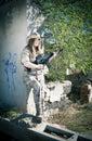Military girl Royalty Free Stock Photo