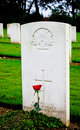 Military gravestone Royalty Free Stock Photo