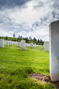 Military graveyard Royalty Free Stock Photo