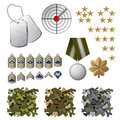 Military icons and design elements Royalty Free Stock Image