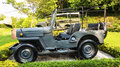 Military jeep old during historical Stock Image