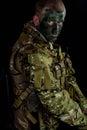 Military man whit armour Royalty Free Stock Photo
