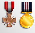 Military medal illustration background Royalty Free Stock Photos