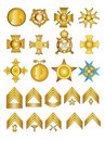 Military Medals and Ranks Stock Photo