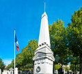 Military memorial in paris a stitched photo of a at the montparnasse cemetery Stock Photo
