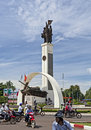 Military Monument in Vietnam Royalty Free Stock Photo