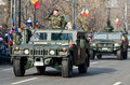Military parade car with a soldier saluting on a of the romanian army for romania s national day december in bucharest Royalty Free Stock Photography