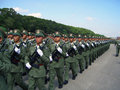 Military parade hong kong china of peoples liberation army garrison at Stock Photography