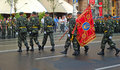 Military parade in Kiev (Ukraine) Stock Images