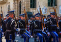 Military parade valletta malta july in valletta malta Stock Photography