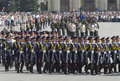 Military Parade of Victory Day Stock Images