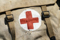 Military pharmacy kit old from the second world war Stock Image