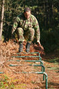 Military physical training Stock Images