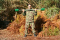 Military physical training Stock Photo