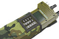 Military radio station buttons cover, close view Royalty Free Stock Photo
