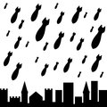Military rain second variant vector illustration Royalty Free Stock Image