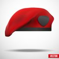 Military Red Beret Army Special Forces Royalty Free Stock Photo