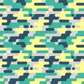 Military Seamless Pattern. Camouflage Background. Camo Fashion Texture. Army Uniform