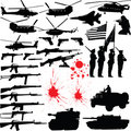 Military silhouettes Royalty Free Stock Photography
