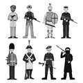 Military soldier character weapon monochrome armor man silhouette forces design and american fighter ammunition navy