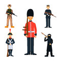 Military soldier character weapon symbols armor man silhouette forces design and american fighter ammunition navy