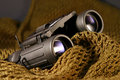 Military spyglass closeup Stock Images