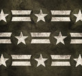 Military stars background pride power strength and stripes on green grunge Stock Photos