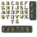 Military style font