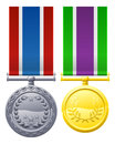 Military style medals Royalty Free Stock Photo