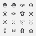Military symbol icons . vector . illustration. Royalty Free Stock Photo
