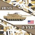 Military tank american army.