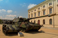 Military tank German armoured - howitzer 2000 Royalty Free Stock Photo