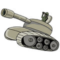 Military tank an image of a Royalty Free Stock Photo