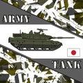 Military tank japan army