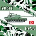 Military tank turkey army