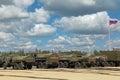 Military tankers gasoline tank trucks kubinka moscow oblast russia jun international technical forum army in patriotic park Royalty Free Stock Image