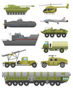 Military technic transport armor flat vector illustration. Royalty Free Stock Photo