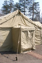 Military tent Stock Photos