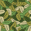 Military texture leaves. Army camouflage of foliage. Seamless pa