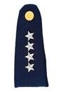 Military uniform insignia Royalty Free Stock Photo