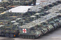 Military Vehicles in Italy coronavirus pandemic outbreak Royalty Free Stock Photo